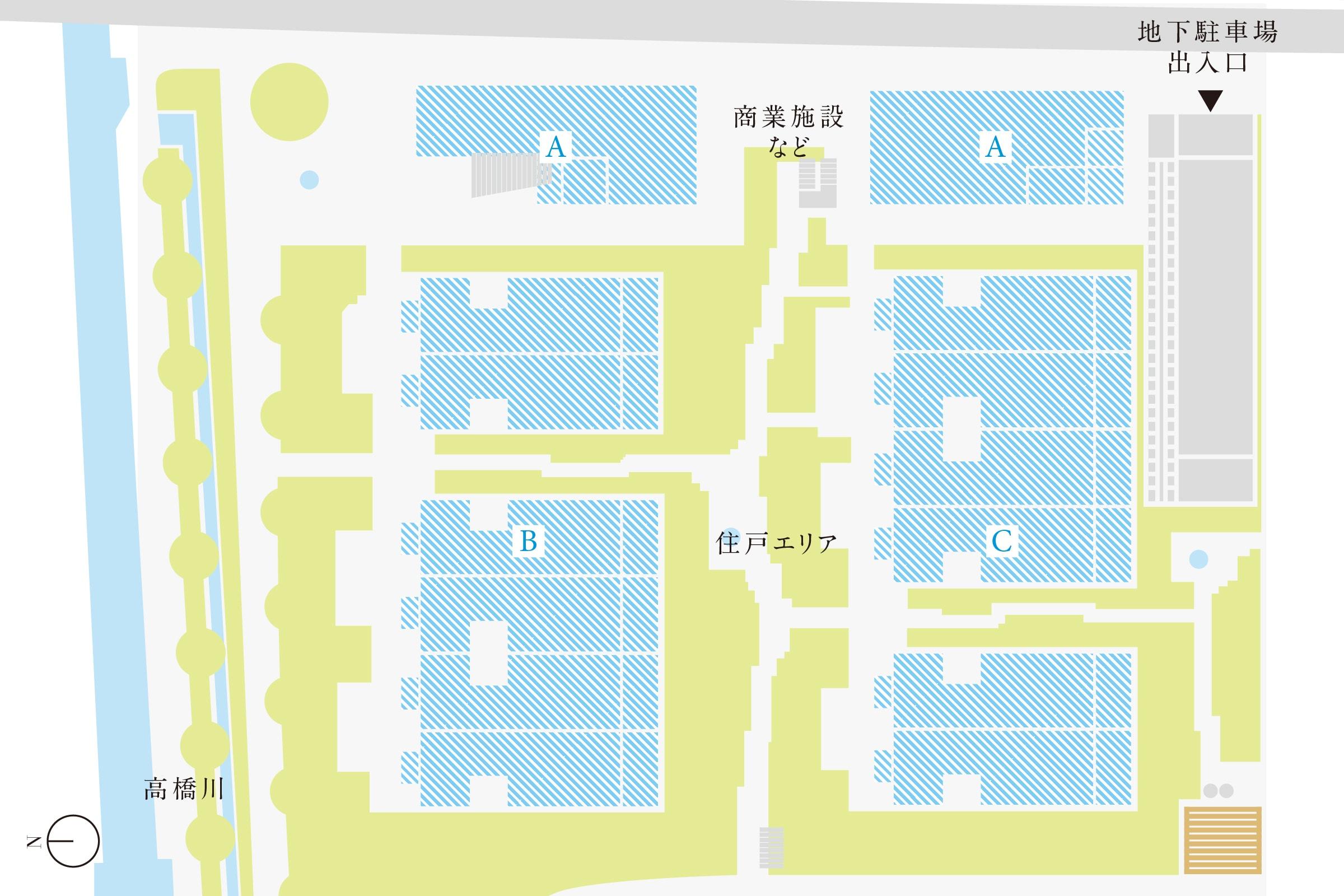 第1期街区内配置図